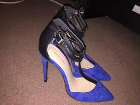 Blue high heels size 5