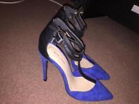 Blue high heels size 5