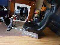 Playseat evolution with tx thrust master steering wheel and pedals