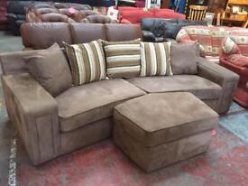 Curved corner 4 seater sofa