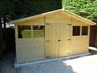 14X8 REVERSE APEX GARDEN SHED, OTHER SIZES AVAILABLE LOGLAP T&G