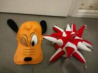 Pluto and clown hats