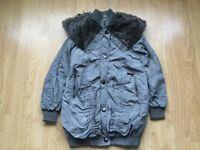🛍 Ladies Grey Coat Size 6 River Island 🛍