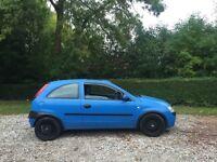 Vauxhall Corsa 1.0 12v blue 2001 power steering CD player low insurance 50+ mpg mot may 2017