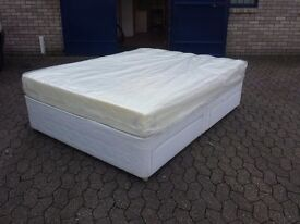 4 drawer king size divan bed with 8 inch thick memory foam mattress