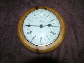 Pine Circular Wall Hanging Clock Weymouth Free Local Delivery