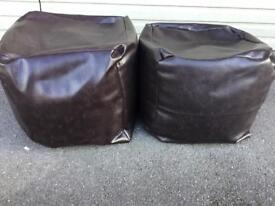Brown Leather bean seats