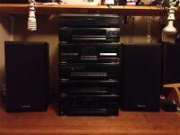 KENWOOD HI-FI SYSTEM TURNTABLE - CD - TUNER - EQ - TAPE