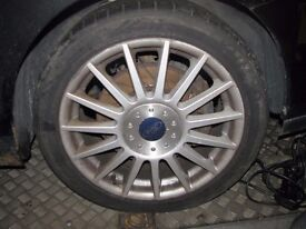 """Ford Focus ST170 Single 17"""" Alloy Wheel With Tyre & Centre Cap"""