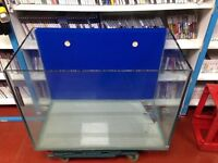 Marine fish tank Rimless Fully Water tight with drilled weir that can be re opened if required.