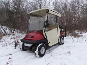 Red Dot Chameleon 3 sided track style drive-able enclosure for your Golf Cart FREE SHIPPING!