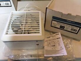150mm / 220l/hr humidistat window extractor fan and wall vent kit