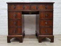 Small knee hole Desk (DELIVERY AVAILABLE FOR THIS ITEM OF FURNITURE)