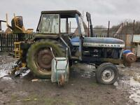 Leyland tractor with backhoe