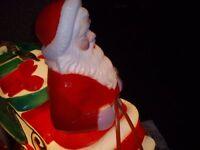 Santa and Reindeer outside lights.