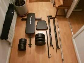 Maximuscle bench, bar & weight equipment