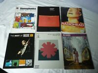 GUITAR TAB BOOKS X 6 -STEREOPHONICS-RADIOHEAD-RED HOT CHILLI PEPPERS-MUSE-KULA SHAKER
