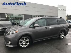2013 Toyota Sienna SE 8-Pass *1/2-Cuir/leather* Toit-ouvrant/roo