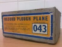 Vintage Record No. 043 Plough Plane - In Box - Carpenters Tools