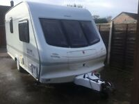 Elddis Hurricane Ex 2000 1999 large rear Bathroom 2 Berth touring Caravan