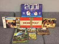 Bundle Joblot of vintage retro games board games Jigsaw puzzles monopoly connect 4 Rare items