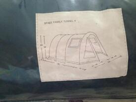 4 berth tunnel tent