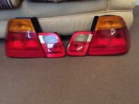 BMW 3 SERIES E46 REAR LIGHTS, CLEAR AND ORANGE SETS AVAILABLE.