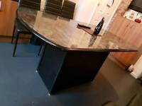 Gloss dining table and chairs