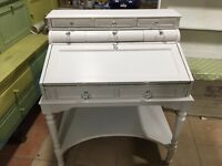 Colonial style handpainted desk with lined inner