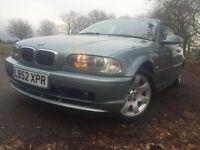 2002 BMW 318i CI 2.0**75K Warranted Miles**2 Owners**Fresh MOT**AUTOMATIC**Rear Sensors**Fog Lights