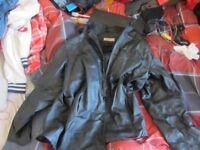 Black 'MOTO' Leather Jacket - EXTRA LARGE
