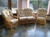 3-piece Cane Conservatory Suite. Strong thick cane frame .