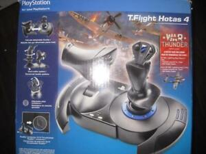 Thrustmaster T Flight Hotas 4 Flight Stick for Sony PS4 / Game System PC. Detachable Throttle. Controller. Ergonomic