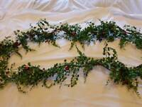 Two Christmas garlands