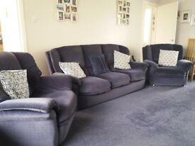 Navy Reid's sofa and armchairs
