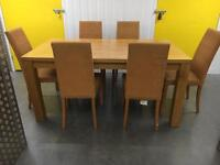 Solid table x6 chairs •free delivery