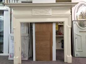 Fire surround, beautiful detail & cresting, approx 1900's, £250.