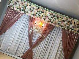 Asian wedding stages/ mehendti stages / centre pieces /