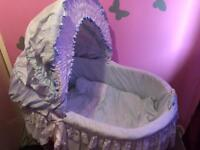 Blue baby Crib/basket quick sale