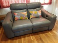 Sofa - 2 seater power recliner in leather