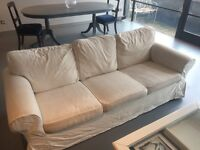 Gorgeous 3 seater ikea sofa for sale removable cover.