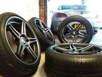 Bmw 19inch alloys + Continental tyres