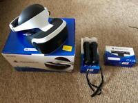 PlayStation VR + 2 PS Move + Camera