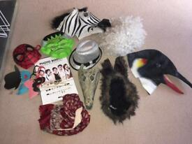 Photo booth fancy dress props. Wedding Party