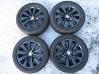 """Genuine BMW 17"""" Gloss Black Alloy Wheels with Winter Tyres - 3 Series (F30/31) or 4 Series (F32/33)"""