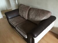 3 and 2 seater sofa DFS Amelle Mink.18 months old VGC stainguard until Aug2021 + footstool