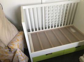 White cot bed Ikea Stuva