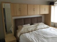 Overbed storage with wardrobes and bedside cabinets - fit over double or king size bed