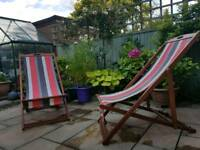 2 x John Lewis Adjustable Sun Lounger and Chairs