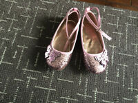 Girls sparkly shoes size 10